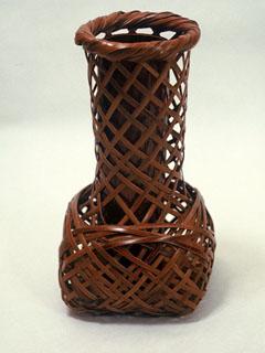 煤竹 砧置花籠