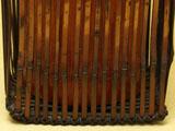 煤竹櫛目編 置花籠 下部分