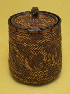 煤竹網代 水指
