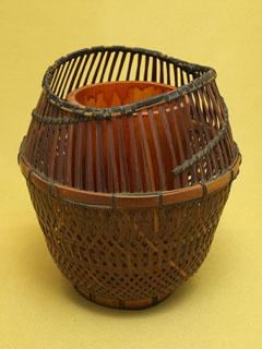 煤竹 置花籠