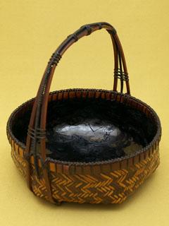 煤竹網代 手付菓子器
