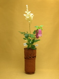 置花籠と花