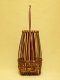 煤竹透 手付置花籠 側面