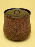 煤竹網代 水指 替蓋仕様