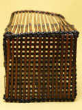 煤竹櫛目編 置花籠