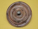 煤竹網代 水指 蓋
