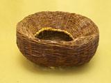 煤竹 置花籠 上から内部を見る