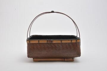 煤竹網代 菓子器